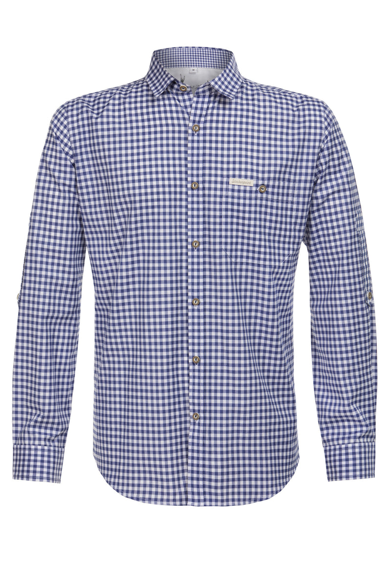 Stockerpoint Traditional Campos3 Blue Long Sleeve Shirt