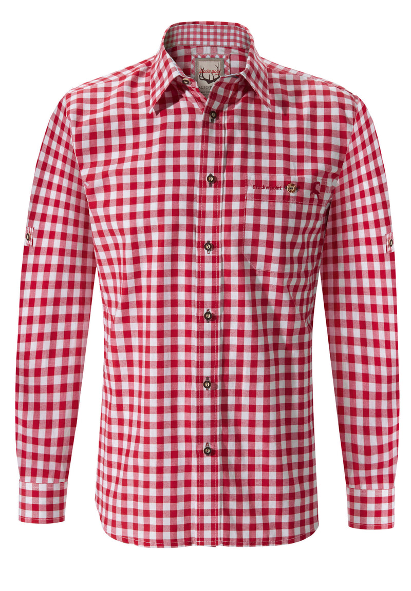 Country Maddox• Bavarian Long Sleeve Red Shirt