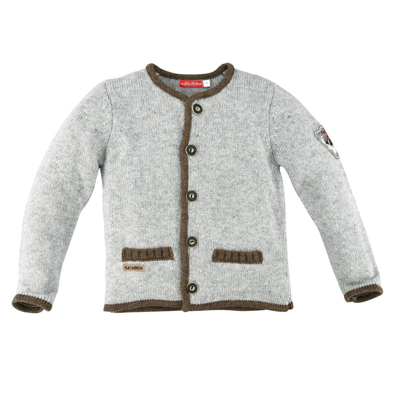 Kids Strickjanker Grey-Melange