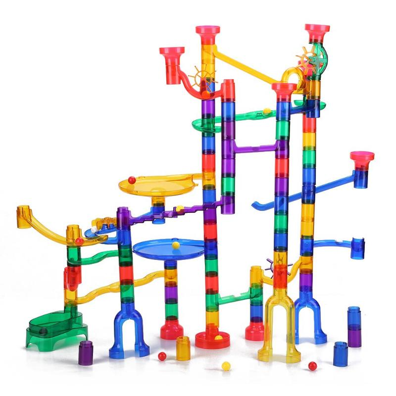 Track Building Blocks Toys For Children Construction Marble Race Run Pipeline Block Educational Toy Game