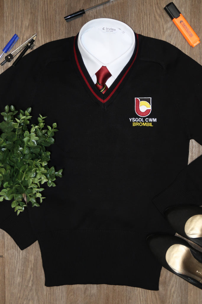Ysgol Cwm Brombil Girls V Neck Jumper YEAR 6 ONLY