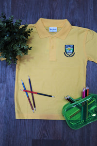 Clwyd Primary Yellow Unisex Polo Shirt