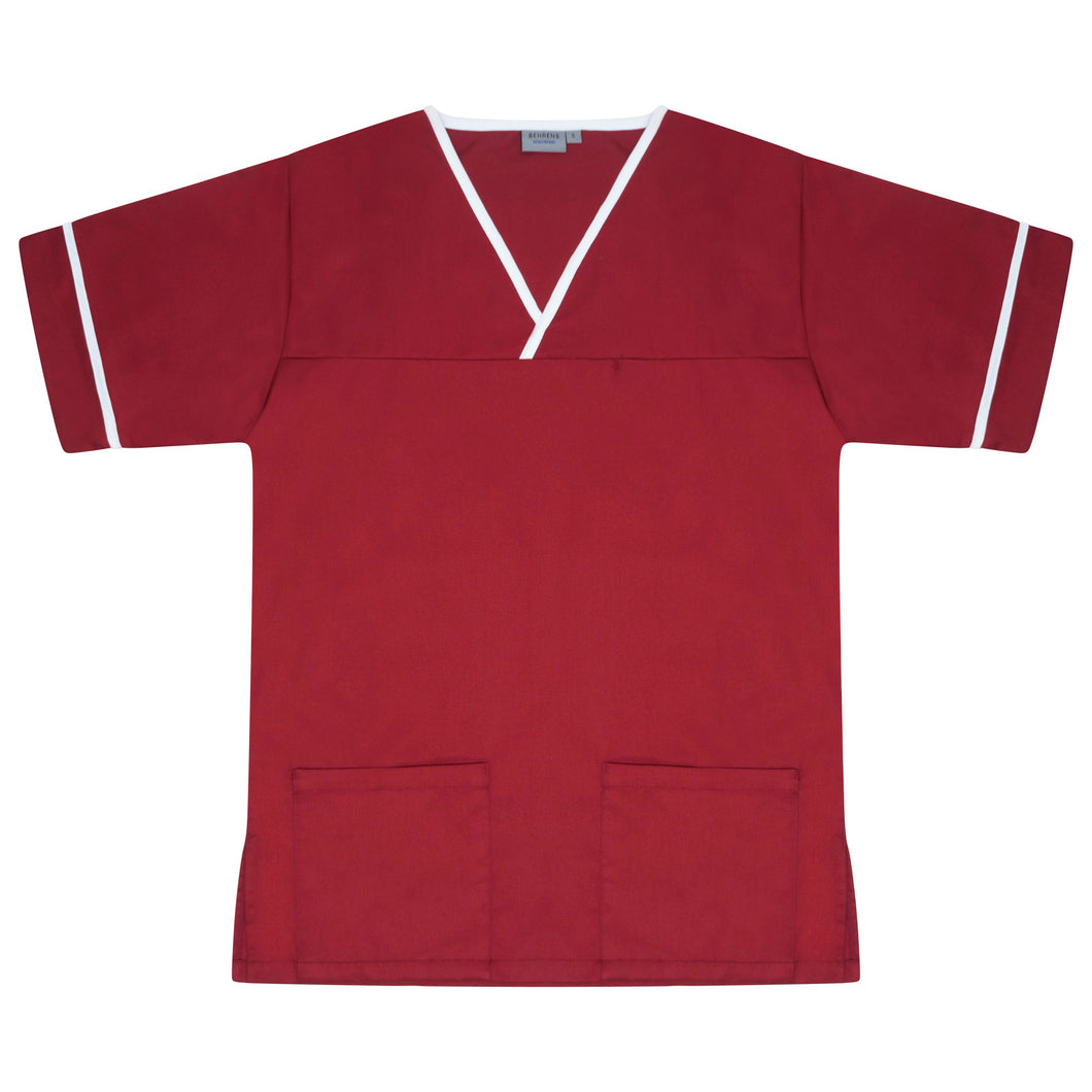Contrast Trim Smart Scrub Top