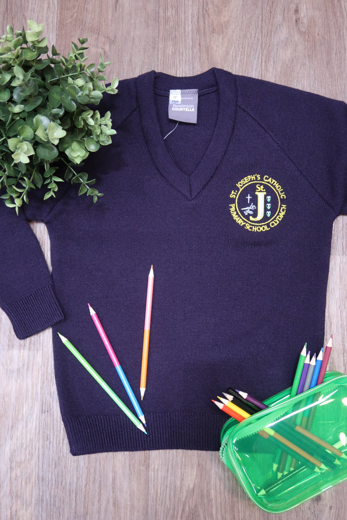 St Josephs Catholic Clydach Unisex V Neck Jumper