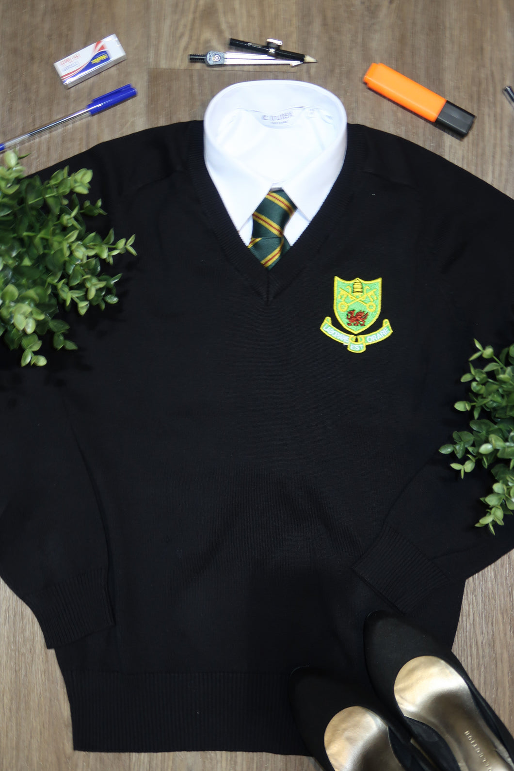 St Josephs Girls V Neck Jumper
