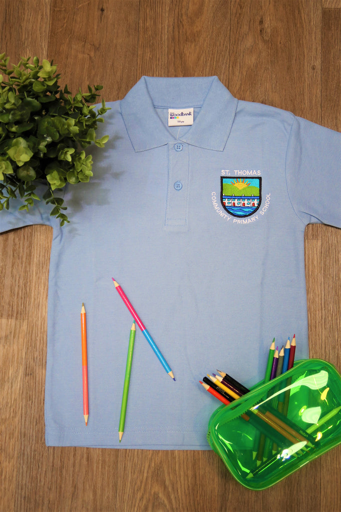 St Thomas Primary Unisex Sky Polo Shirt