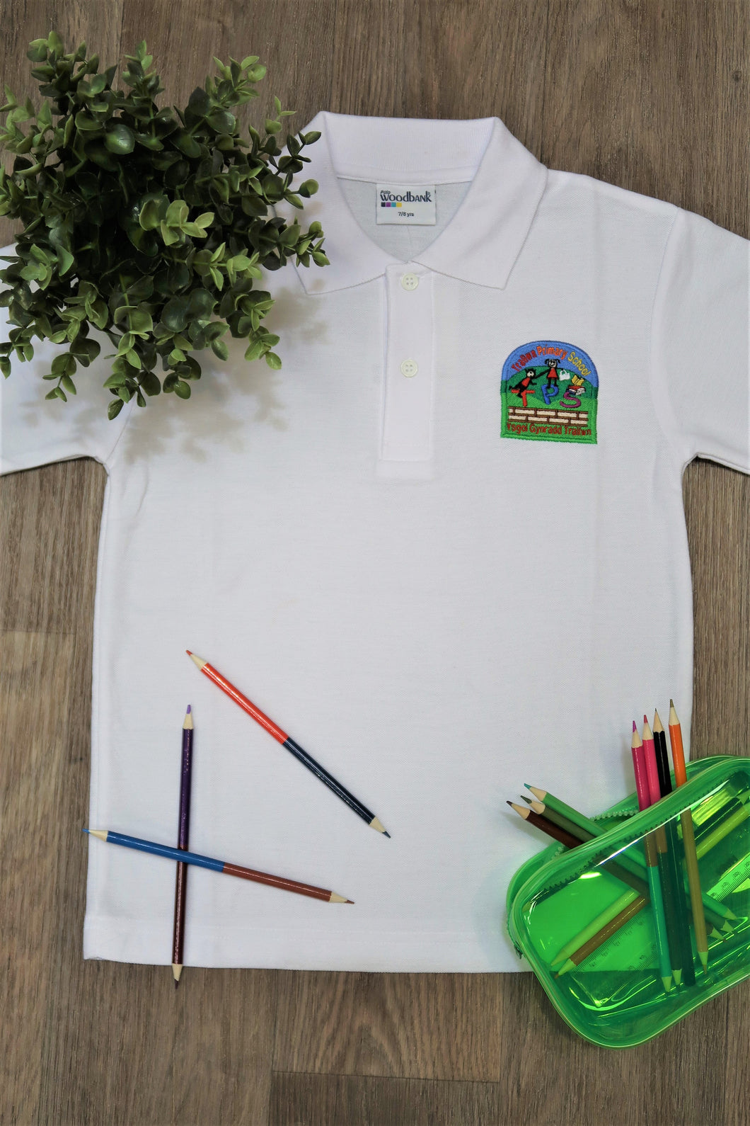 Trallwn Primary Unisex Polo Shirt