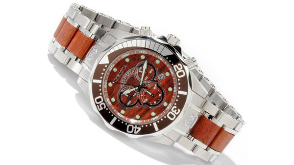 Invicta Pro Diver Wood Watch