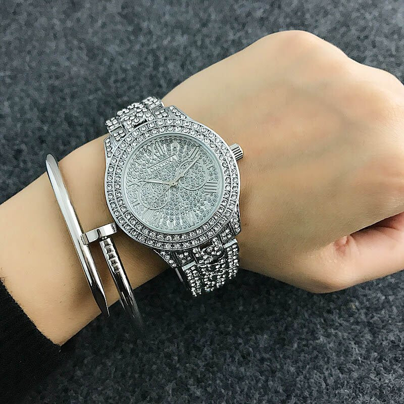 CONTENA Shiny Diamond Watch Luxury Rhinestone Bracelet Watch Women