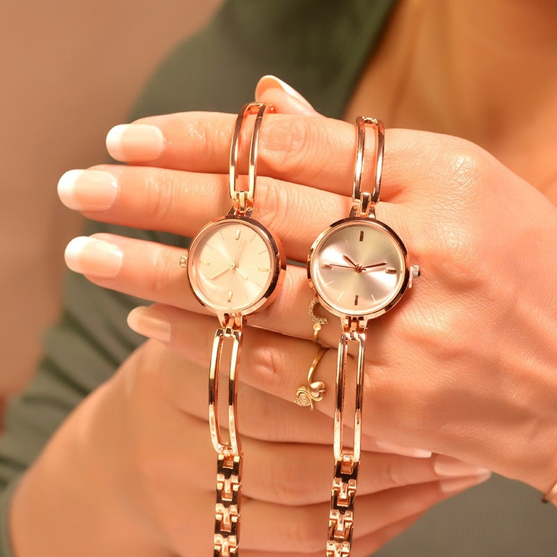 1PCs Women Bracelet Watches Luxury Fashion Stainless Steel Small Quartz