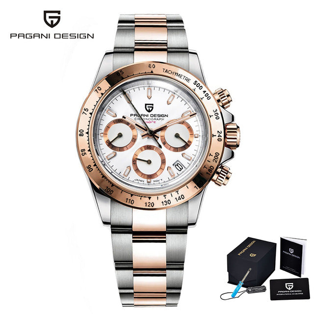 PAGANI DESIGN Automatic men watch 2020 new gold quartz wristwatch top luxury sports fashion chronograph