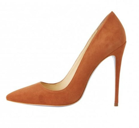4 inch heel, caramel pump, caramel heel, nude heel, suede heel, pointed toe heel, kandee shoe, kandee pump, kandee heel, angela simmons shoe, shoe boutique, designer shoes, independent designer, independent shoe designer, shuesq, unique shoes, violet caramel