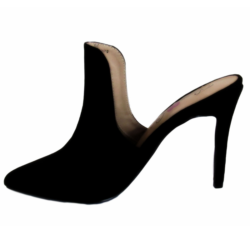 Mule, black mule, open back shoe, 4 inch heel,4 inch pump, shoe boutique, designer shoes, shuesq, unique shoe, fall shoe, indie shoe designer