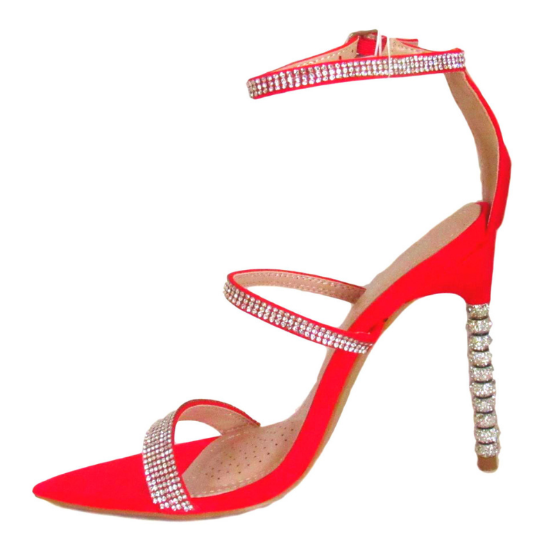 4 inch heel, red pump, red heel,  pointed toe stilleto, shoe boutique, designer shoes, independent designer, independent shoe designer, indie designer, shuesq, unique shoes