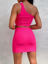 Load image into Gallery viewer, Iris One Shoulder Top Pink