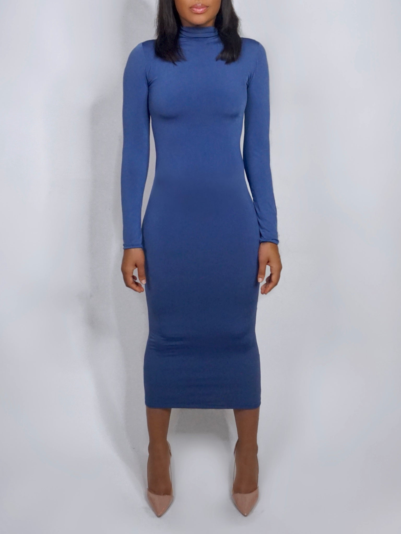 Leila Bodycon Dress Slate Blue
