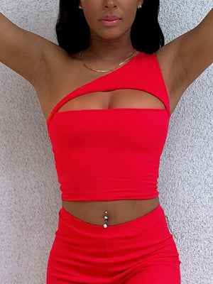 Open image in slideshow, Iris One Shoulder Top Cherry