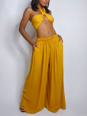 Open image in slideshow, Malibu Pants Deep Yellow
