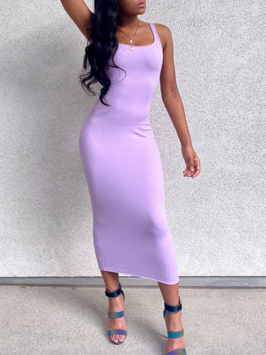 Piper Tank Dress Lavender
