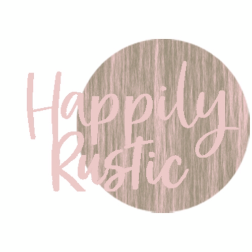 Happily Rustic - Wood Slice Photo Gifts Logo