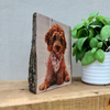 Pet Portrait Half Log Photo Plaque