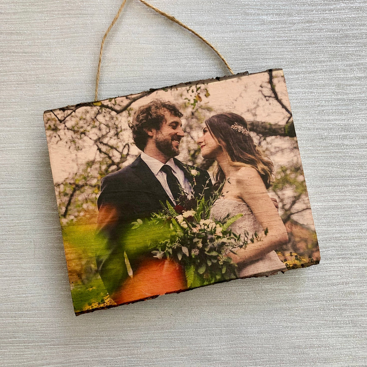 Natural Wood Photo Plaque