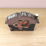 Wood Slice House Photo Plaque