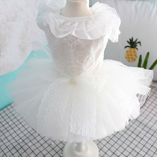 OnnPnnQ Spring Summer Small Dog Dress Wedding Dresses For puppy Tutu Dresses Skirt Poodle Skirt Pet Summer Clothes