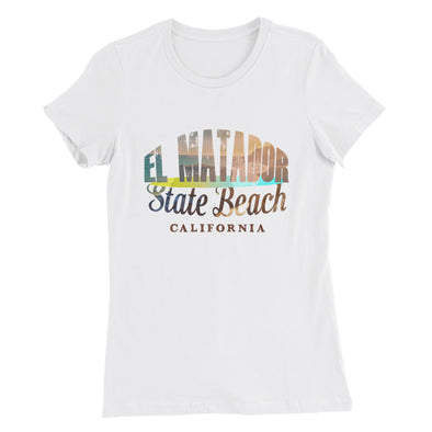 """El Matador"" State Beach Malibú, CA. Women's Slim Fit T-Shirt"