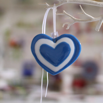 Handmade Fused Glass Charlie Heart