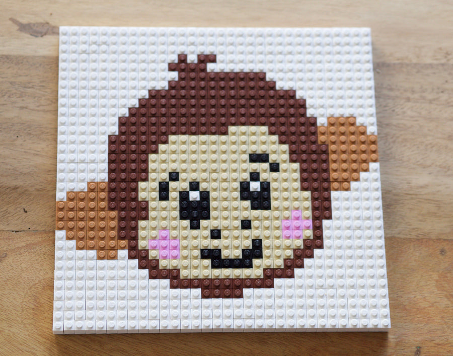 Cheeky Monkey LEGO® Bricks Mosaic
