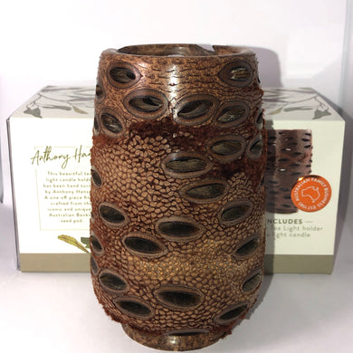 Australian Banksia Large Hollow Tea Light Australian Banksia Tea Light Mantsa Wellness