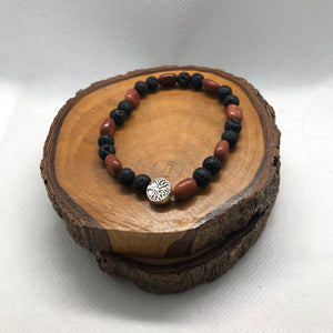 Mantsa Design - Lava Bracelet - Tree Sunstone Mantsa Design Bracelet Mantsa Wellness