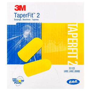 Box - 3M™ E-A-R™ TaperFit™ 2 Large Earplugs (200 Pairs Uncorded)