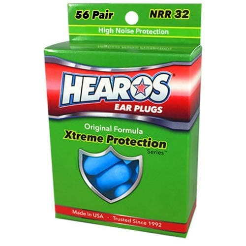 Hearos Original Formulation Xtreme Protection Ear Plugs (NRR 32 | 56 Pairs)