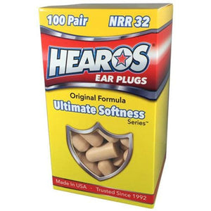 Hearos Ultimate Softness Ear Plugs (NRR 32) (100 Pairs)