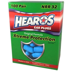 Hearos Original Formulation Xtreme Protection Ear Plugs (NRR 32 | 100 Pairs)