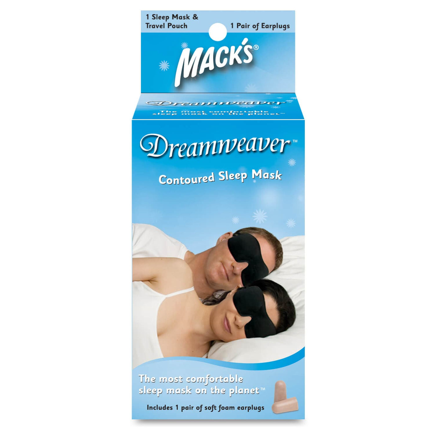Macks Dreamweaver Contoured Sleep Mask w/ Ear Plugs
