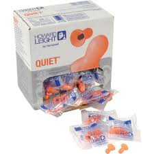 1x Box - Howard Leight Quiet Ear Plugs (100 Pairs Uncorded)
