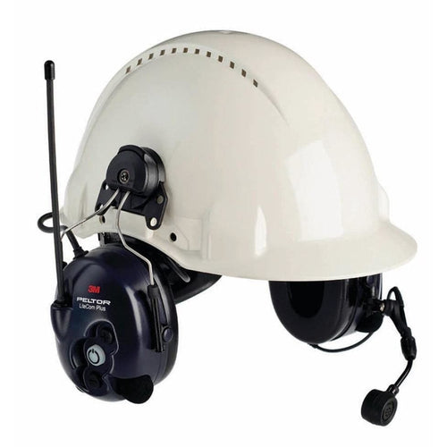 3M™ Peltor™ Lite-Com™ Plus Helmet Attached
