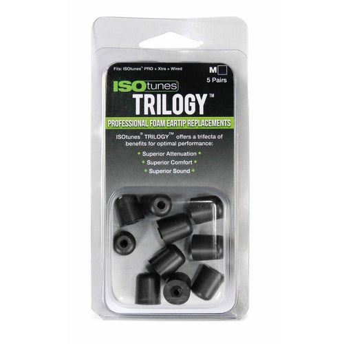ISOtunes TRILOGY™ Foam Replacement Tips (5 pairs)
