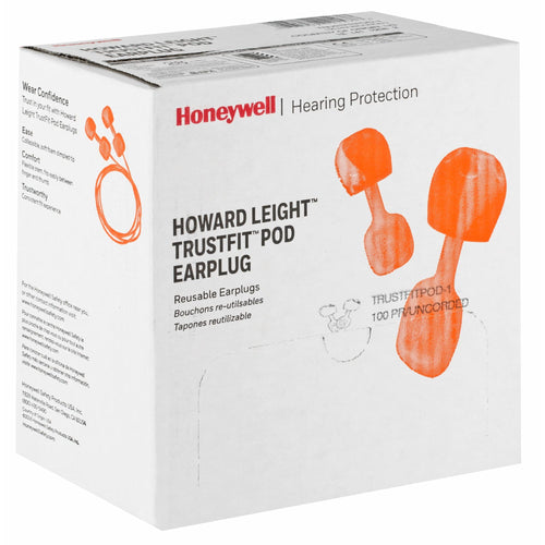 Box - Howard Leight TrustFit Pod Ear Plugs (100 Pairs Uncorded)