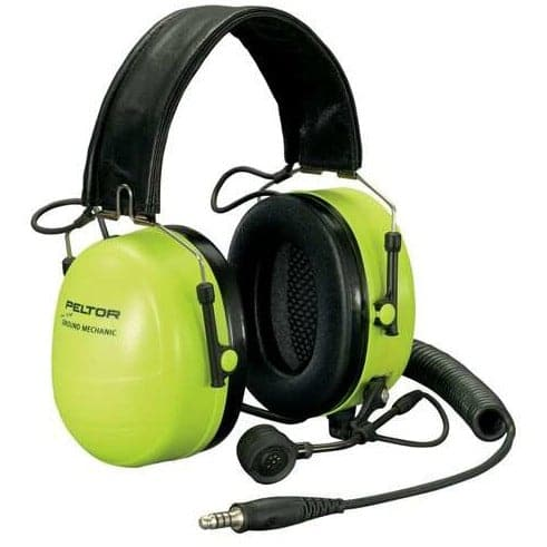 3M™ PELTOR™ Ground Mechanic Communications Headset, Neon Cups
