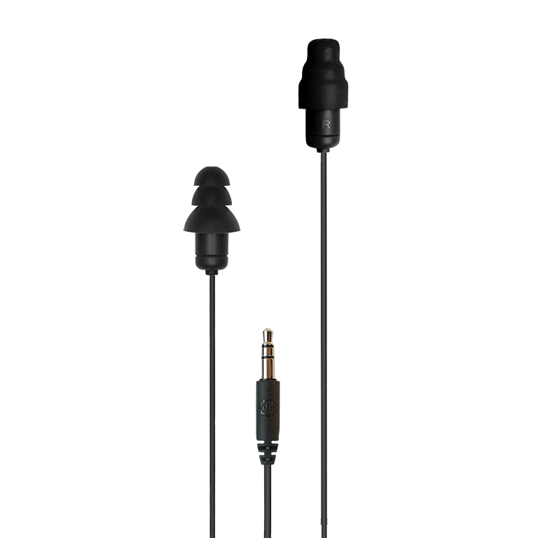 Plugfones® Guardian™ Earplug-Earphone Hybrids (NRR 27/29)
