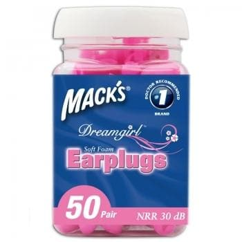 Macks Dreamgirl Soft Foam Ear Plugs (NRR 30) (Bottle of 50 Pairs)