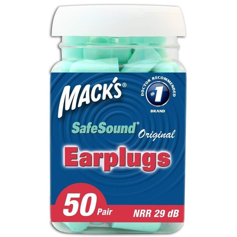 Macks Original Soft Foam Ear Plugs (NRR 29) (Bottle of 50 Pairs)