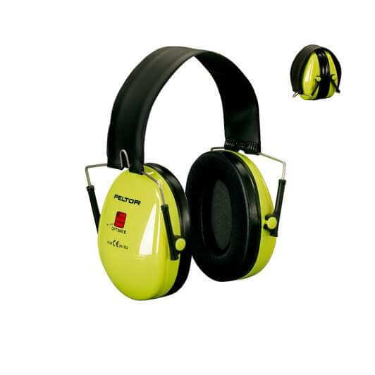 10x 3M™ PELTOR™ Deluxe H7 Series, Foldable High Vis Headband Earmuff