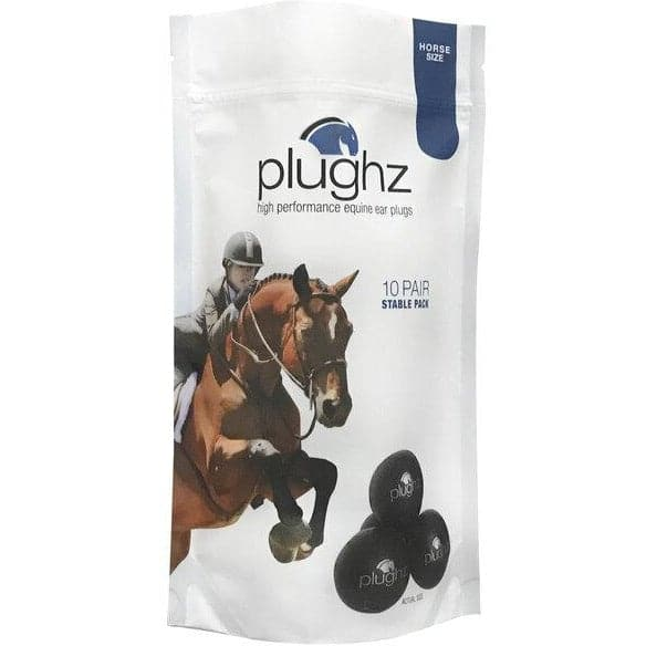 Plughz Horse Ear Plugs (Pack of 10 Pairs)