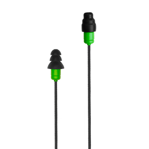 Plugfones™ Protector Plus Industrial Earplug-Earphone Hybrids with In-Line Mic (NRR 27/29)