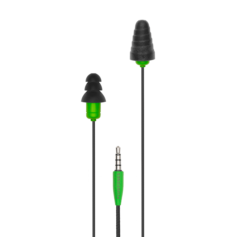 Plugfones® Protector™ Industrial Earplug-Earphone Hybrids (NRR 26)